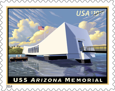 U.S. Postal Service honors USS Arizona Memorial, shrine commemorated on stamp today