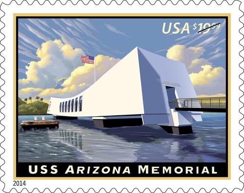 USS Arizona Memorial Commemorated on Stamp