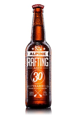 Alpine Rafting Aged 30 Years - Proudly Brewed in Golden, BC (PRNewsFoto/Alpine Rafting)