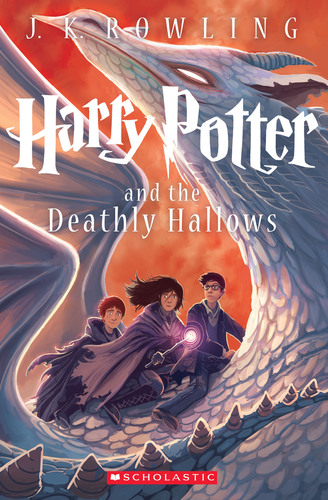 A new cover image for Harry Potter and the Deathly Hallows was revealed at The Scholastic Store in New York ...