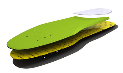 Unequal Ultrathin Insoles - Approved by the APMA, these insoles reduce the chronic impact shock by as much as 80 percent.  (PRNewsFoto/Unequal Technologies)