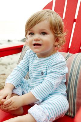 mbaby Aqua Stripe Sleepster.  (PRNewsFoto/Munchkin, Inc.)