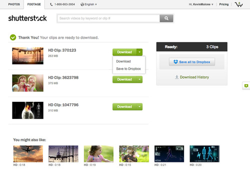 Shutterstock is First Stock Agency to Integrate New Dropbox Saver