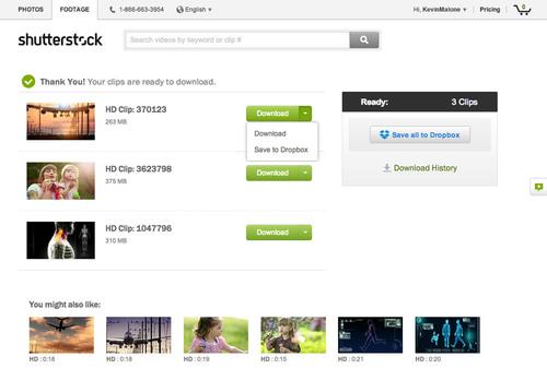 Shutterstock with Dropbox Integration.  (PRNewsFoto/Shutterstock, Inc.)