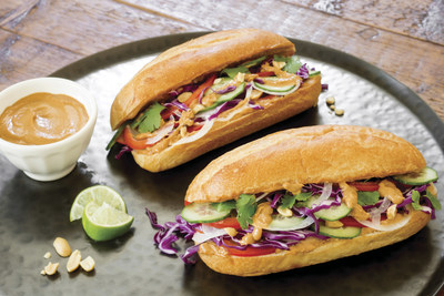 Photo courtesy of Southern Peanut Growers Veggie Sammies with Peanut Butter Satay Sauce