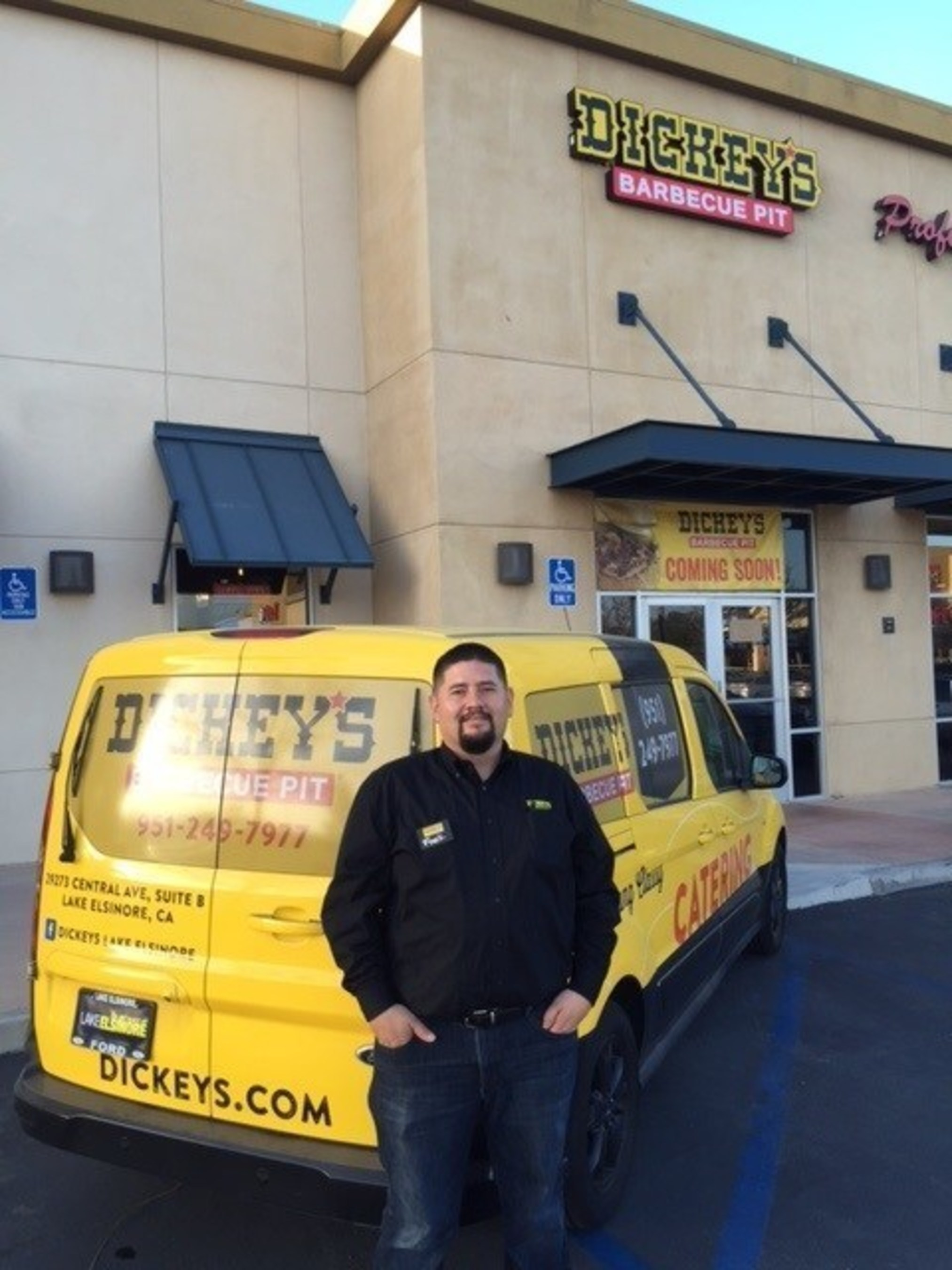 Dickey's Barbecue Pit Owner/Operator Frank Morones opens the doors on Thursday with three days of specials and giveaways