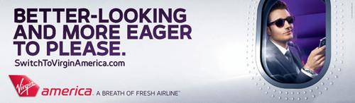 Virgin america advertising at heathrow