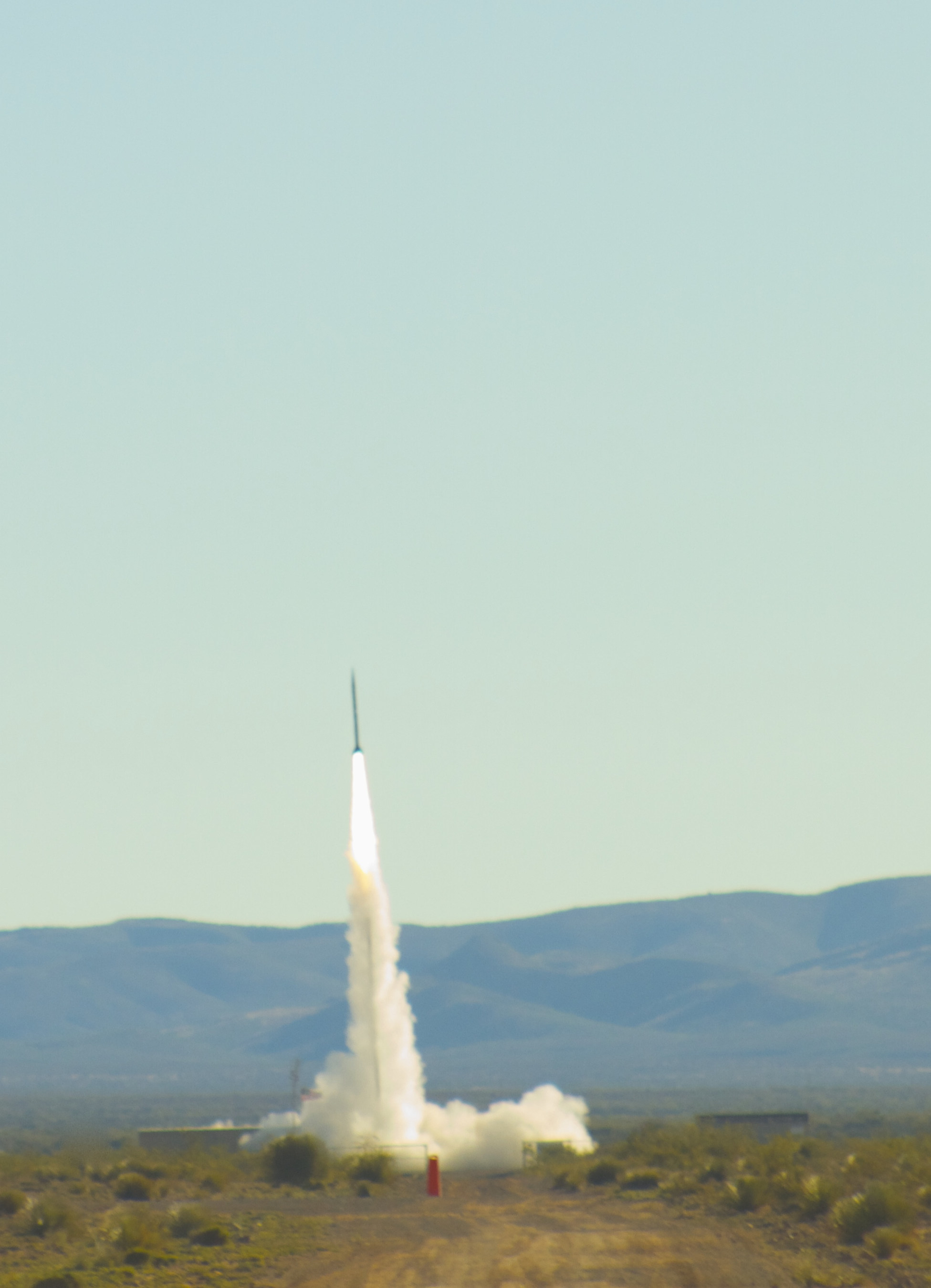 Successful launch of UP Aerospace SL-10 payload rocket. Courtesy of Spaceport America