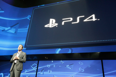 Andrew House, President and Group CEO, Sony Computer Entertainment, introduces PlayStation 4 for the first time. (PRNewsFoto/Sony Computer Entertainment Inc.) (PRNewsFoto/SONY COMPUTER ENTERTAINMENT INC.)