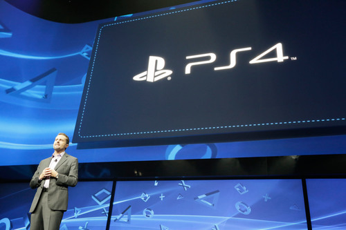 Andrew House, President and Group CEO, Sony Computer Entertainment, introduces PlayStation 4 for the first ...