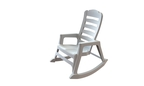 World's First Stacking Resin Rocking Chair in White (PRNewsFoto/Adams Manufacturing)