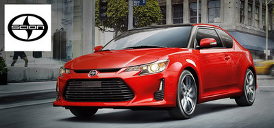 The 2014 Scion tC combines form and function in an innovative design that will appeal to those who like to stand out in a crowd. Or, in this case, traffic.  (PRNewsFoto/Scion of Naperville)