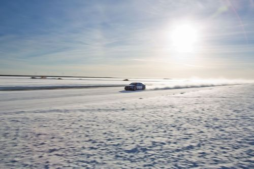 Nokian Tyres Fastest on Ice. The new world record for fastest car on ice was achieved by Nokian Tyres, when test driver Janne Laitinen drove at a speed of 335.713 kilometres per hour (208.602 mph) on the ice of the Gulf of Bothnia on 9 March. Grip and speed like never before were ensured by the new spearhead product for the world's leading manufacturer of winter tyres – the Nokian Hakkapeliitta 8 studded tyre. More: www.nokiantyres.com/Fastest-On-Ice