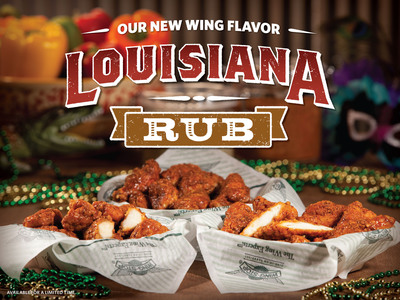 Wingstop Introduces 10th Flavor - Louisiana Rub - A new crispy, tangy, dry-rubbed wing that's now available nationwide.  (PRNewsFoto/Wingstop)