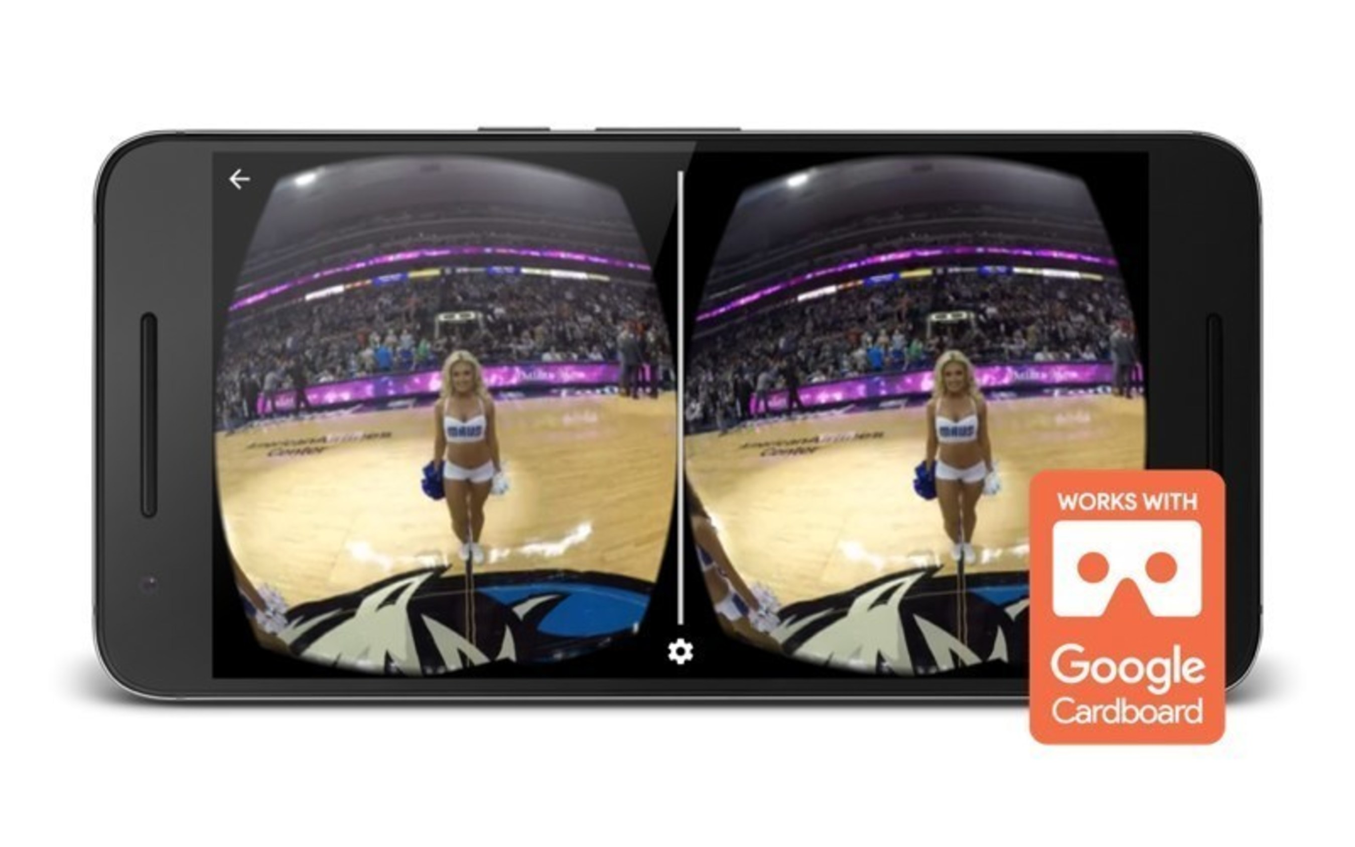 Fans can experience Mavericks action in VR using the mobile app's 360-degree video feature.