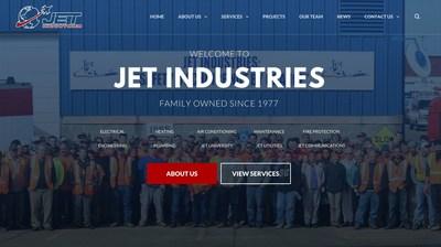 Screenshot of new Jet Industries, Inc. Website