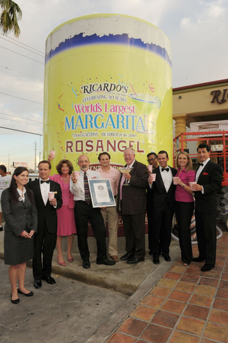Ricardo's Mexican Restaurant and ROSANGEL™ Tequila Break Guinness World Record® for the 'World's