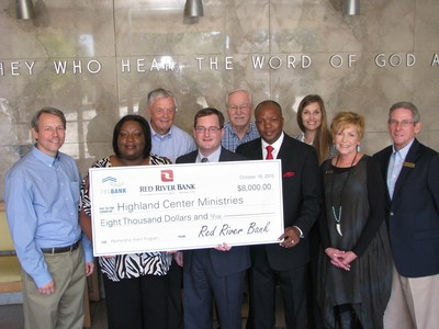 The Highland Center Corporation and its wholly owned subsidiary Highland Center Ministries today received an $8,000 Partnership Grant Program award from Red River Bank and the Federal Home Loan Bank of Dallas (FHLB Dallas). The funds will be used for training and education, hiring staff, and purchasing a new laptop and printer for its housing support services.