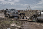 With the support of the Ram Truck Brand and the FCA Foundation, the First Response Team of America will be on-site in flood-stricken central Texas with their fleet of Ram vehicles and community restoration equipment to assist residents with recovery and relief efforts. (Photo courtesy of The Weather Channel)