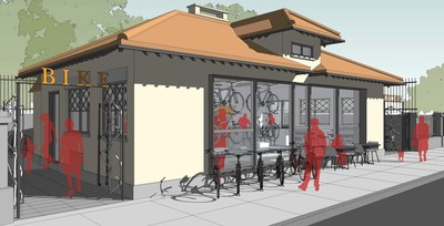 The Bike Kitchen will be housed in a historic, long-abandoned building with an important transportation-related history: a rest stop along a formerly busy streetcar line, today still an important transportation corridor that is increasingly used by local and regional cyclists.