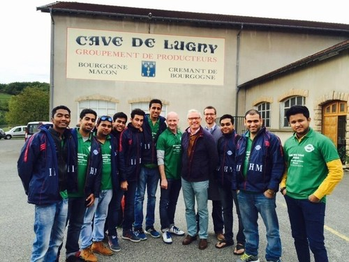 At the Magnificent Cave De Lugny Wine estate in Macon, France (PRNewsFoto/IIHM)