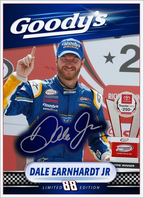 Goody's(R) and Dale Earnhardt Jr. Launch Exclusive 'Dale Jr. Photo Finish' Limited Edition Trading Card Set at the 2016 Goody's(R) Fast Relief 500 on Oct 30th