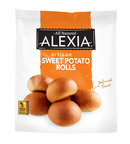 With a soft texture and sweet flavor, Alexia Sweet Potato Rolls are the perfect complement to any meal, and offer an added benefit of eights grams of whole grains in every roll.  (PRNewsFoto/Alexia Foods)