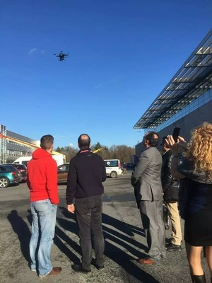 One customer takes the XEagle UAV for a test flight