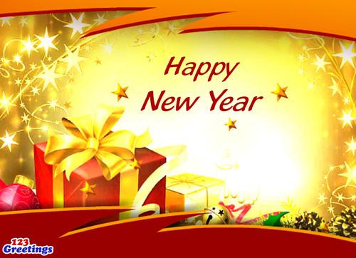 Happy New Year.  (PRNewsFoto/123Greetings.com)