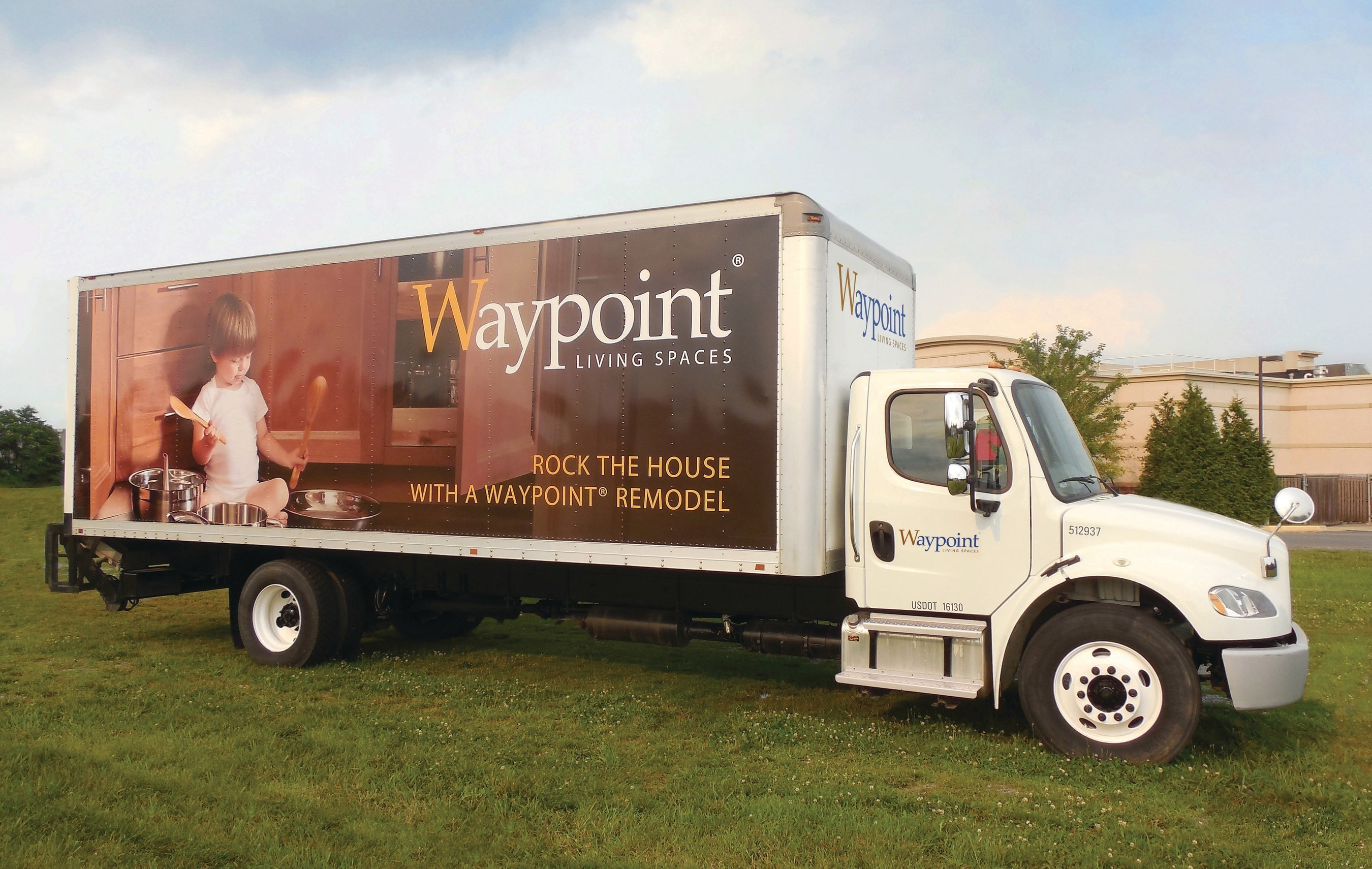 Waypoint Living Spaces(R) delivery truck