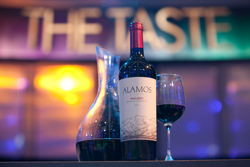 "Alamos Malbec on the set of ABC's ""The Taste"".  (PRNewsFoto/Alamos Wines)"