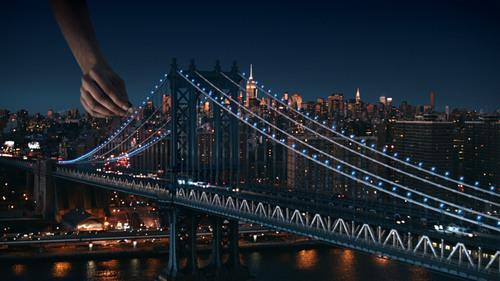 "Pepsi's Super Bowl Halftime introduction spot, ""Soundcheck NYC,"" transformed New York City ..."