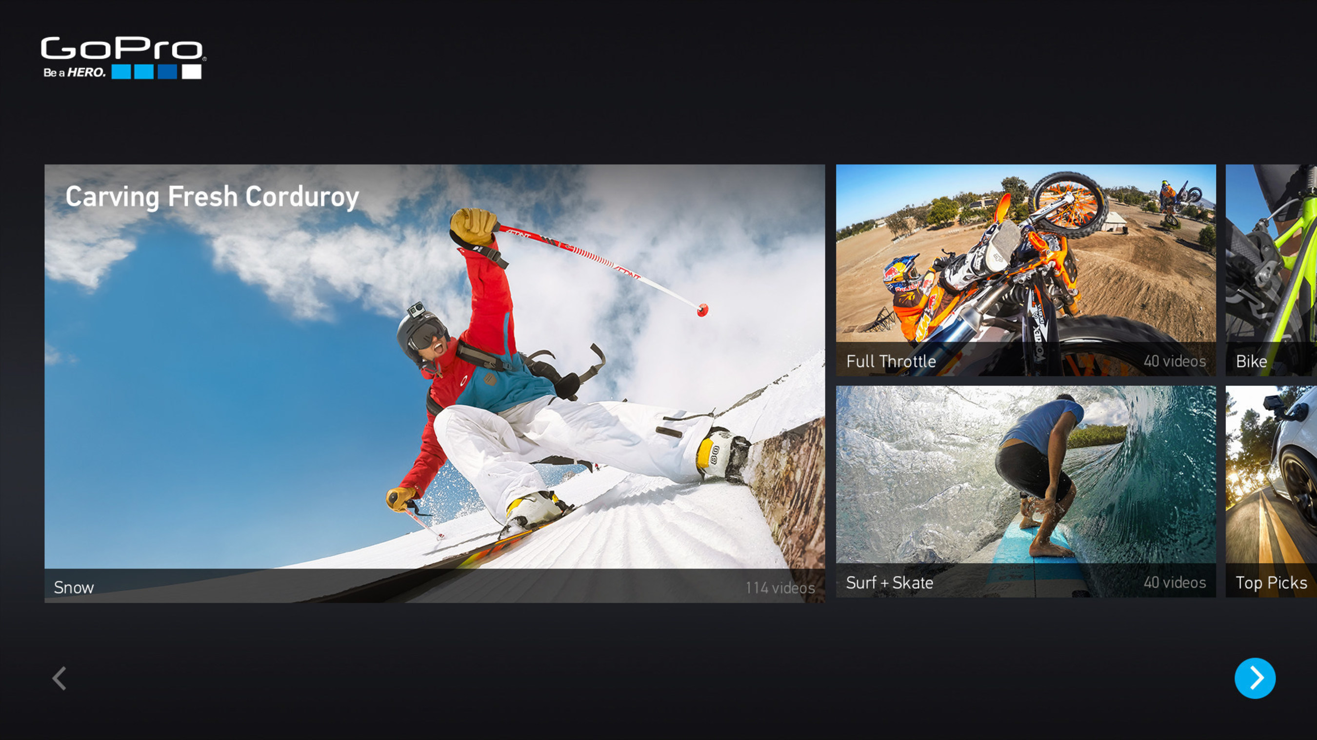 GoPro App Brings A New Channel to the LG Smart TV Platform