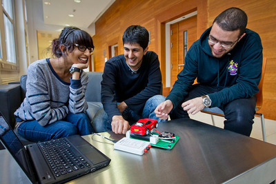 University of Manchester students using a NI miniSystem.  (PRNewsFoto/National Instruments)