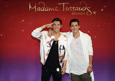 Pop sensation Austin Mahone unveiled his new wax figure for Madame Tussauds Orlando today in New York City. Madame Tussauds artists and sculptors took more than 300 body and head measurements to create the lifelike wax replica. Mahone worked with artists to finalize the pose and even donated his own clothing to put his signature stamp on the figure.  Mahone's figure will now travel to Florida where it will be on display for fans inside Madame Tusssauds Orlando. Photo credit: Cindy Ord/Getty Images for Madame Tussauds Orlando.