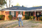 Odell Mathews and his mother, Annie (not pictured), both received Special Needs Assistance Program grants from the Federal Home Loan Bank of Dallas and its member institution, Community Trust Bank. The funds were used to make needed repairs to both of their homes. Mr. Mathews is shown in front of his Monroe, Louisiana, home with its new roof, thanks to the SNAP grant.