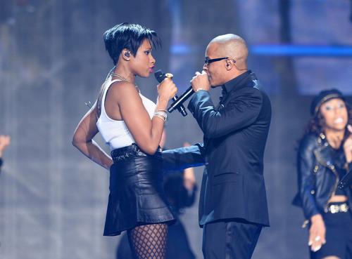 R&B diva Jennifer Hudson and Hip Hop superstar T.I. duet on Soul Train Awards 2013 airing Sunday, December 1st at 8 PM ET/PT on Centric  (PRNewsFoto/BET Networks)