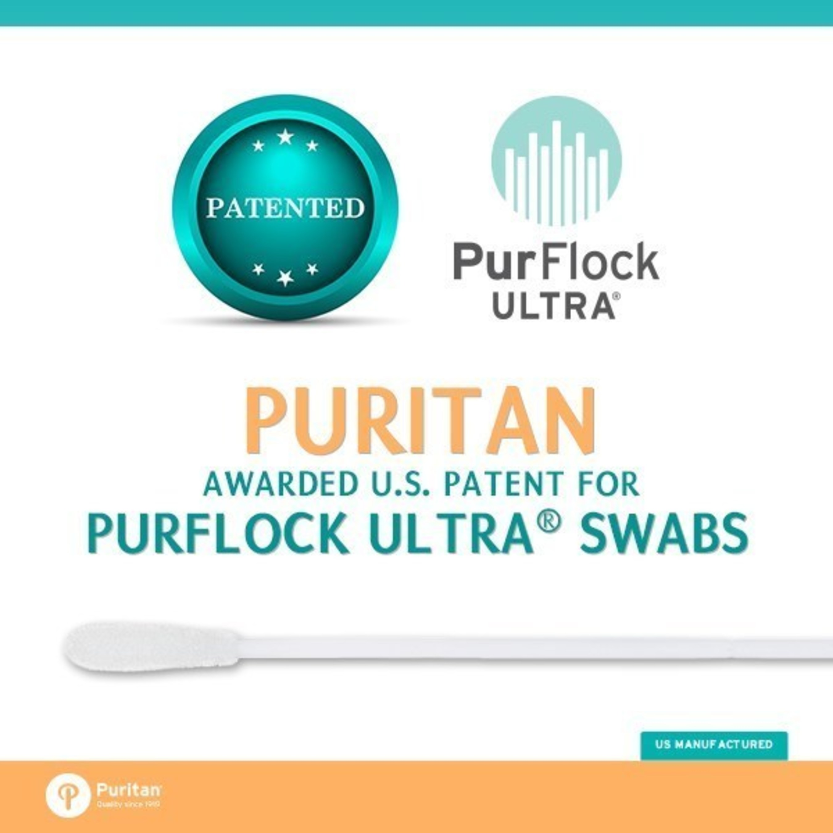 Puritan Medical Products Awarded Second US Patent for PurFlock Ultra(R) Flocked Swabs