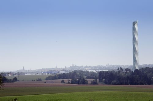 ThyssenKrupp presents architecture of the proposed test tower in Rottweil. The tower will support research and ...