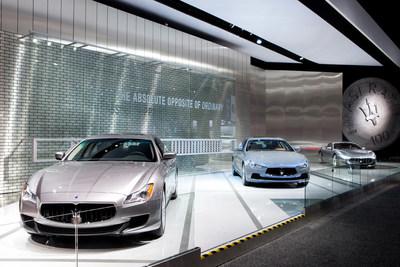 Maserati Display at 2015 Detroit Auto Show (NAIAS)