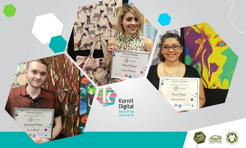 Top 3 winning design for the Kornit Digital and FIT 2014 Sustainable Digital Textile Printing Challenge     ...