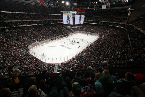 New technology renovation on full display at Minnesota Wild home opener vs. Colorado Avalanche at Xcel Energy ...