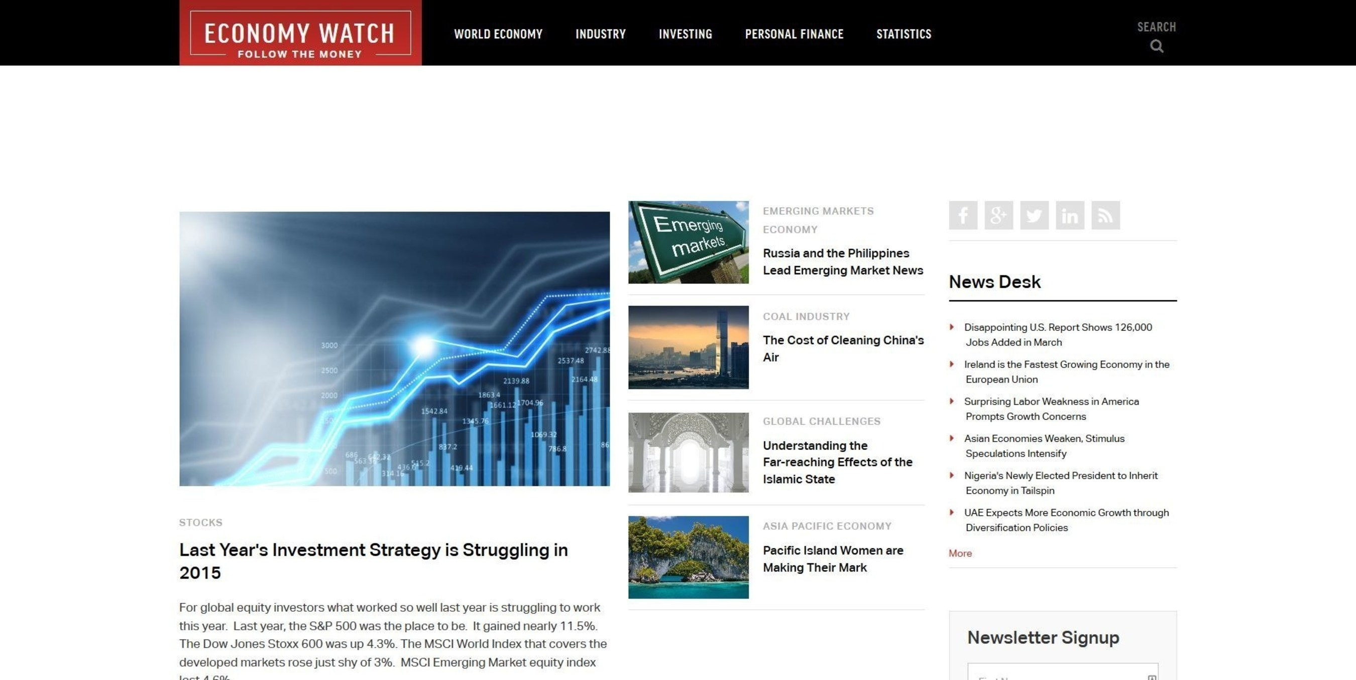 EconomyWatch.com Announces Launch of Their Newly Redesigned Website