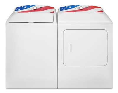 In honor of America's heroes, the Kenmore brand has created a limited edition patriotic laundry pair with an American flag graphic on the back console that was designed, engineered and assembled in the U.S.A. The brand will donate $40 from the sale of each pair, up to a total of $200,000, to Rebuilding Together, a partner of the Sears Heroes at Home program. The money raised will help Rebuilding Together make necessary improvements, modifications and repairs to military family homes nationwide.