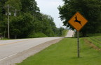 Be aware of Deer Crossing signs which are posted in active deer crossing areas.