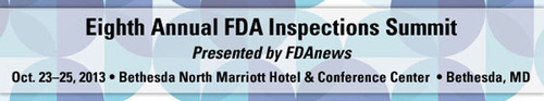 Eighth Annual FDA Inspections Summit:New Powers, New Enforcement Posture, New Challenges. Presented by FDAnews.  (PRNewsFoto/FDAnews)