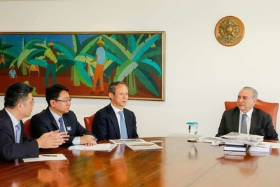 Brazilian President Michel Temer met with XCMG's chairman Wang Min