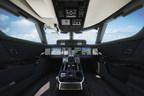 Gulfstream Symmetry Flight Deck with Honeywell Primus Epic avionics.