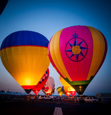 Balloons over Horseshoe Bay Resort, April 18-20 will feature 20 hot-air balloons from across America. Austin's own Reckless Kelly will perform live in concert. For tickets go to balloonsoverhsbresort.com. (PRNewsFoto/Horseshoe Bay Resort) (PRNewsFoto/HORSESHOE BAY RESORT)