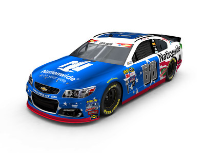Dale Earnhardt Jr.'s No. 88 Nationwide Chevrolet SS will feature this patriotic paint scheme for the May 29th race in Charlotte.